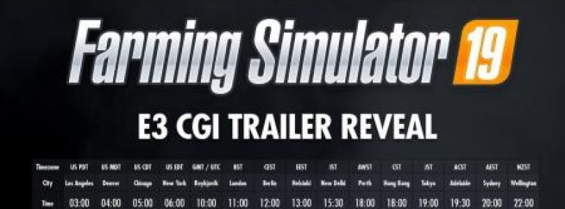 Farming Simulator 19 Full CGI E3 Live Trailer / FS19 Excavators and forklifts