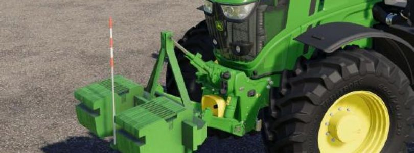 JOHN DEERE DOUBLE WEIGHT V1.0 / FS19 Implements and Tools