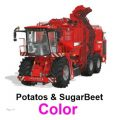 Holmer with Potatos & SugarBeet + cutting units Color V 1.2 / FS19 combines