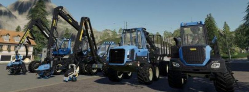 REAL FORESTRY MACHINERY V1.0 / FS19 Excavators and forklifts
