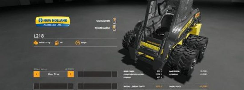 DUALLIES FOR L218 SKIDLOADER V1.1 / FS19 Excavators and forklifts
