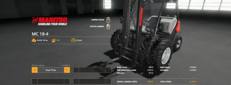 FORKLIFT DUALLIES & WEIGHTED DUALLIES V1.2 / FS19 Excavators and forklifts
