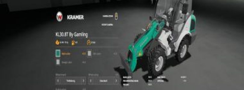 KRAMER KL30.8T BY GAMLING V1.0.0.0 / FS19 Excavators and forklifts
