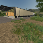 nimated Placeable Machine Shop with refuel point / FS19 building