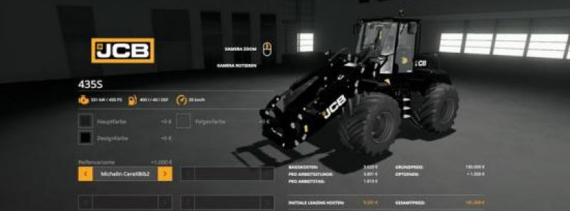 JCB 435 S v1.0 / FS19 Excavators and forklifts