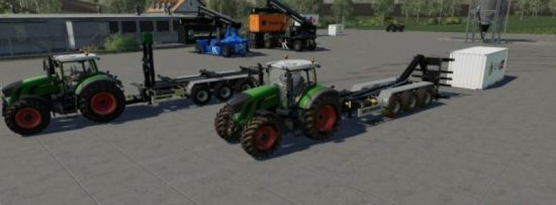 ATC ContainerHandlingPack v1.0.1.0 / FS19 Excavators and forklifts