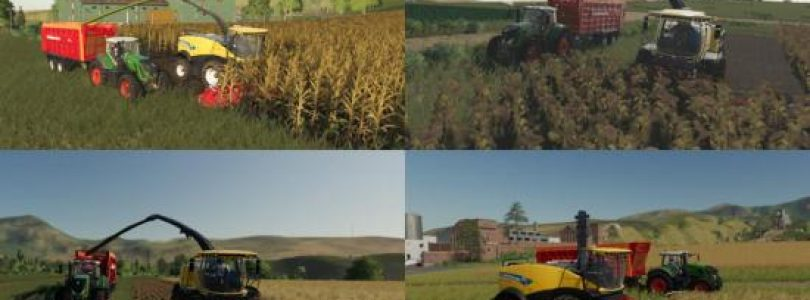 MULTI HARVEST HEADERS V1.0.0.0 / FS19 cutters