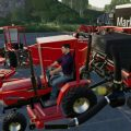 CASE IH 235 LAWN TRACTOR AND CAR HAULER MOD PACK V2.0 / FS19 Tractors