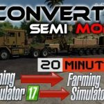 SEMI TRUCK TEMPLATE FOR MODDERS V1.0 / FS19 Trucks
