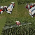 HS 8 SPRAYERS SUPPORT V1.2.0.0 / FS19 Trailers