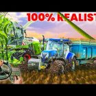 Farming Simulator 19 FULL REALISTIC IN EXTREME CONDITIONS (SILAGE) Steering Wheel View